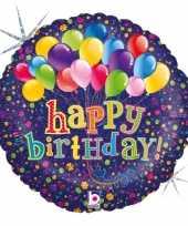 Folie ballon gefeliciteerd happy birthday ballonnen 46 cm met helium gevuld trend