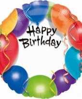 Folie ballon happy birthday 45 cm trend