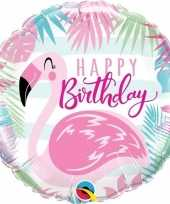 Folie ballon happy birthday flamingo 45 cm trend