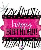 Folie ballon happy birthday verjaardag 46 cm met helium gevuld trend 10197937