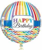 Folie ballon orbz rond gefeliciteerd happy birthday 40 cm met helium gevuld trend