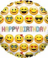 Folie ballon smiley verjaardag 35 cm trend