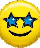 Folie ballon ster smiley 45 cm trend