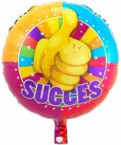 Folie ballon succes 43 cm met helium gevuld trend