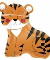 Folie ballon tijgertje 90 cm trend