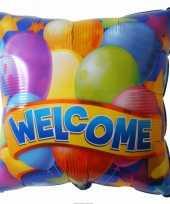 Folie ballon welkom trend