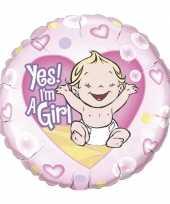 Folie ballon yes i am a girl trend