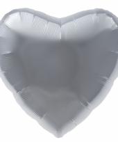 Folie ballon zilveren hart trend