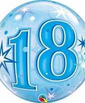 Folie helium ballon 18 jaar blauw 55 cm trend
