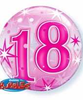 Folie helium ballon 18 jaar roze 55 cm trend