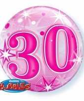 Folie helium ballon 30 jaar roze 55 cm trend