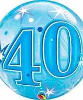 Folie helium ballon 40 jaar blauw 55 cm trend