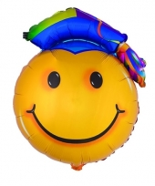 Folieballon geslaagd smiley 67 cm trend