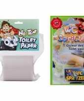 Fop pakket voor op het toilet trend