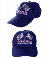 Formule 1 baseballcaps blauw trend