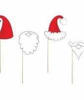 Foto props set kerstmannen en baarden trend