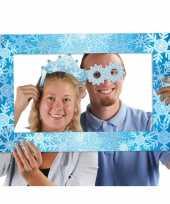 Foto props set met lijst thema sneeuw trend