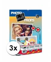 Foto props set vrijgezellenfeest incl 3x wegwerp camera trend