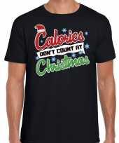 Fout kerst-shirt christmas calories zwart voor heren trend
