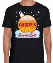 Fout kerst-shirt daddy his favorite balls bier zwart voor heren trend