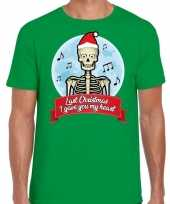 Fout kerst-shirt last christmas i gave you my heart groen heren trend