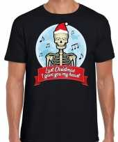 Fout kerst-shirt last christmas i gave you my heart zwart heren trend
