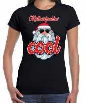 Fout kerst-shirt stoere kerstman motherfucking cool zwart dames trend