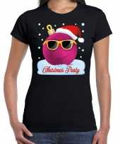 Fout t-shirt christmas party zwart voor dames trend