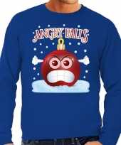 Foute kerst sweater trui angry balls blauw heren trend
