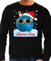 Foute kerst sweater trui christmas party zwart voor heren trend