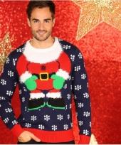 Foute kerstelf lichaam print truien trend
