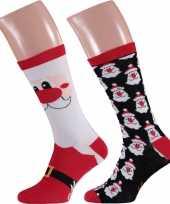 Foute kerstman kerstsokken 2 pak voor heren trend