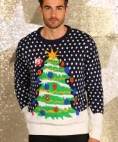 Foute kerstprint truien blauw trend