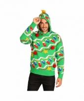 Foute kerstprint truien groen trend