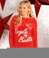 Foute kerstprint truien tingle my bells trend