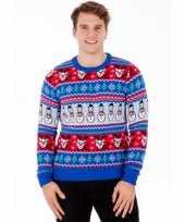 Foute print heren truien comic christmas trend