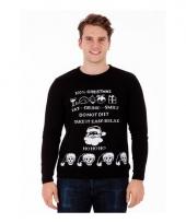 Foute print heren truien evil christmas trend
