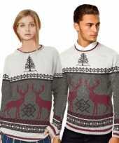 Foute print heren truien met rendieren trend