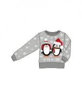 Foute print kids trui met pinguins trend