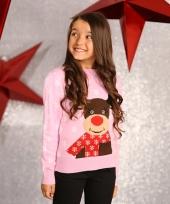Foute rendier print trui voor meisjes trend