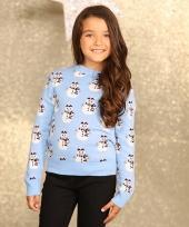 Foute sneeuwpop print trui voor meisjes trend