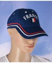 France pet blauw met vlag trend