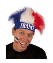 Frankrijk fan haarband met pruik trend