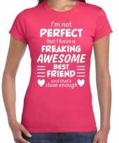 Freaking awesome best friend beste vriend cadeau t-shirt roze trend
