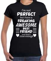 Freaking awesome best friend beste vriend cadeau t-shirt zwart trend 10200070