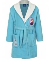 Frozen badjas kinderen blauw met wit trend