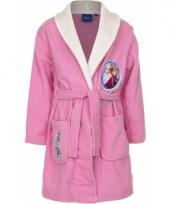 Frozen badjas meisjes roze met wit trend