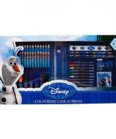 Frozen kleurkoffer 42 delig trend