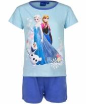 Frozen korte pyjama meisjes blauw trend