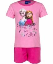 Frozen korte pyjama meisjes roze trend